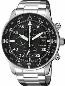 NEW CITIZEN Crono Aviator Men's Eco Drive Chronograph Wrist Watch with Box