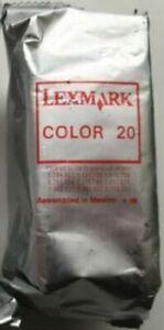 2 x Genuine Lexmark 20 Colour ink cartridge