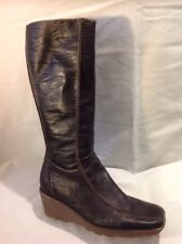 Aldo Brown Knee High Leather Boots Size 42