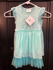 NEW Hanna Andersson FRUIT PLAY DRESS sz 100 3 4 Summer Flutter Sleeve Freshmint
