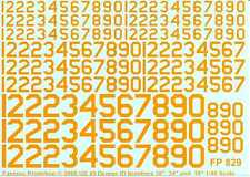 "Fantasy Printshop Decals 1/48 U.S. 45 DEGREE ID NUMBERS 18"" 24"" & 36"" YELLOW"