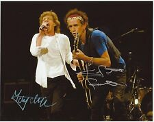 JAGGER & RICHARDS  8x10 REPRINT PHOTO & REPRINT AUTOGRAPH ON GLOSSY PHOTO PAPER