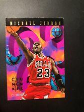 Michael Jordan 1995-96 Hoops Crunchers Insert #1 of 25 Chicago Bulls