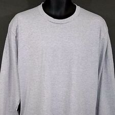 Supreme American Apparel Mens T Shirt Made In USA Gray Blank Tag Cut Size Large