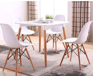 square   Dining table  and  2   4    Eiffel chairs