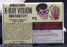 X-Ray Vision Glasses Comic Book Ad - Fridge / Locker Magnet. Vintage Toy Ad