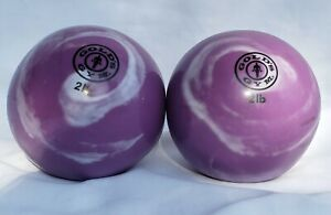 2lb Toning Ball by Golds Gym Lot of 2 Purple Round Weights Squishy work out