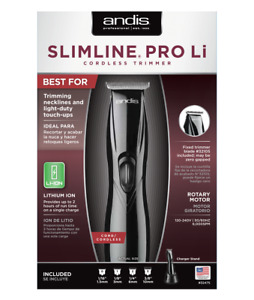 Andis Slimline Pro LI Trimmer Black #32475 NEW US Seller