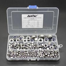 400pcs M3-M12 A2 Stainless Steel Nylon Lock Nuts Metric Assortment Kit NO.D002