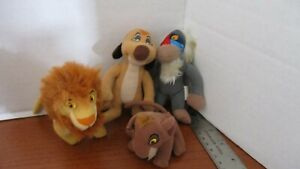 McDonalds~Set of 4 Plush LION KING II SIMBA'S PRIDE Stuffed Animals