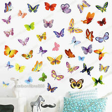42 Colourful Butterflies Vinyl PREMIUM QUALITY Wall Stickers Decals Kids Room