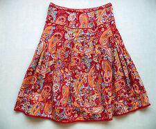 Womens PAPPAGALLO skirt Sz 10 fashion luau party paisley sexy below knee hot
