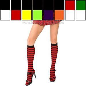Sexy Opaque Striped Knee Hi Nylon Stockings High Trouser Socks Hosiery Halloween