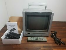 """PANASONIC TX-G10 10"""" CRT TV Classic Colour Screen Old Retro Gaming *Tested"""