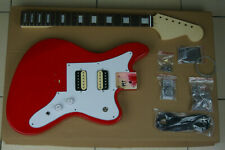 DIY/Build Your Own GUITAR KIT J Master Offset Fiesta Red w/Block Inlay Neck