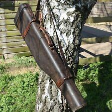 Antique Leather Gun Case Leg of Mutton Travel Case Bag Shooting Game Keeper