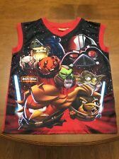 Star Wars Angry Birds Darth Vader Yoda Shirt Boys Medium Size 10-12