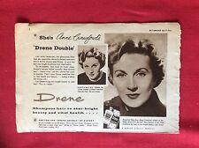 m2f ephemera 1960 advert actress anne crawford drene shampoo