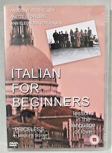 ITALIAN FOR BEGINNERS Danish comedy dvd region 2 PAL 15  English subtitles