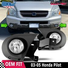 For Honda Pilot 03-05 Factory Bumper Replacement Fit Fog Lights Clear Lens
