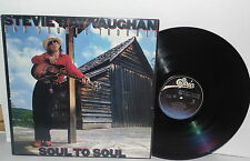 STEVIE RAY VAUGHAN AND DOUBLE TROUBLE Soul To Soul LP Vinyl Blues PLAYS WELL