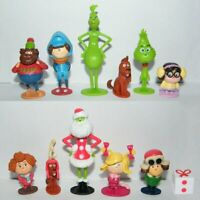 12 PCS The Grinch How To Stole Christmas Xmas Gift Action Figure Kid Gift Toy