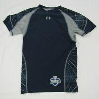 Under Armour Mens Size Large NFL Combine Heat Gear Navy Blue Compression Shirt