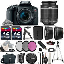 Canon EOS Rebel T7i SLR Camera 800D + 18-55mm IS -3 Lens Kit + 64GB + Much More!