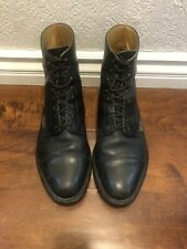 paraboot Mens Shoes Black Learther Boots Sz 11 Uk . 12 US  Made In France