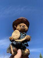 "Chicago Fire Fighter ""C"" on Fireman's Hat Hose Axe Teddy Bear Figurine ❤️sj17j1s"