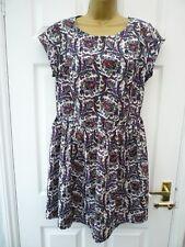 ATMOPSHERE Ladies Size 14 Purple Multi Paisley Floral Boho Summer Casual Dress