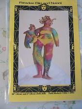 "PARADISE DOLLS-Eliki & Nalani-PATTI CULEA~10"" & 4"" CLOTH  ART DOLL PATTERN~2002"