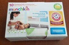 Munchkin Disposable Changing Pads with Arm & Hammer Baking Soda - 10 Count (Nib)