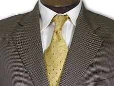 $595 Harold Powell Tan/Black Houndstooth Sport Coat size 40 B008
