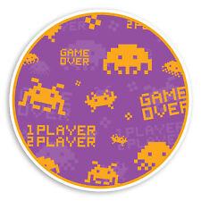 2 x 10cm Retro Video Game Vinyl Stickers - Gamer Sticker Laptop Luggage #8465
