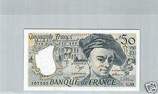 FRANCE 50 FRANCS QUENTIN DE LA TOUR 1989 U.58 N° 1444507535