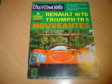 L'automobile N°265 Renault 16 TS.Triumph TR 5