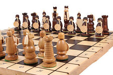 "AMAZING ''MAGNAT"" WOODEN CHESS SET 55cm x 55cm. AMAZING HAND CRAFTED PIECES!"