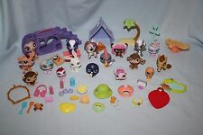 LOT Littlest Pet Shop 17 Animals 35 Accessories Zebra Monkey Bear Rabbit Penguin