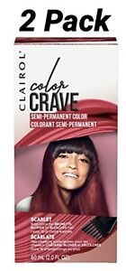 Clairol Color Crave Semi-Permanent Hair Color 2 Pack-SCARLET