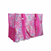 Thirty One Organizing Utility Tote Shoulder Bag Beach 31 Gifts Pink Paisley