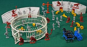 Marx Recast Spartacus Gladiator School - 54mm unpainted plastic toy soldiers