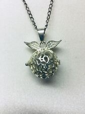 Necklace Apple Pendant Silver Coloured Jewellery with Chain Locket with Clasp