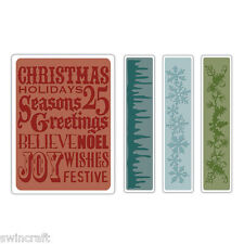 SIZZIX TIM HOLTZ TEXTURE FADES Folders CHRISTMAS BACKGROUND/BORDERS 657480 *