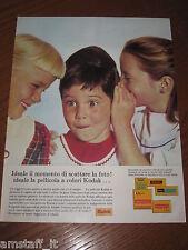 AD18=1963=KODAK PELLICOLA=PUBBLICITA'=ADVERTISING=WERBUNG=