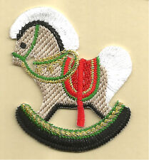 Rocking Horse - Horse - Embroidered Iron On Applique Patch - CRAFT PROJECTS