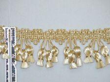 "2"" Attractive Tassel Fringe Trim Gold Ivory Per Yard"