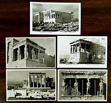 5 Photo Postcards Erechtheion & Caryatides Acropolis ATHENS GREECE ca.1930's
