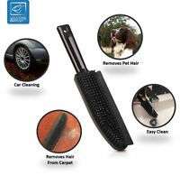 PROFESSIONAL RUBBER HAND BRUSH PET HAIR CLEANING SCRATCH FREE RUBBER BRISTLE