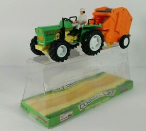 NEW-RAY COUNTRY LIFE TRACTOR WITH TRAILER  w/Original Box Great Condition